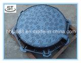 Coperchio di botola rotondo di En124 D400 C/O 600mm con la vite