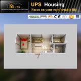 Casa móvel do recipiente do feriado rápido do edifício com as decorações fornecidas