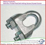 Clips de câble métallique de l'acier inoxydable DIN741malleable