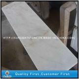 Opérations en pierre de marbre blanches blanches normales de la Chine Guangxi, semelles d'escaliers