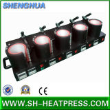 5 dans 1 machine d'impression de sublimation de tasse, machines de transfert de presse de la chaleur de tasse