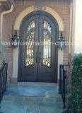 Конструкции Irondoor Openable стеклянной двери самомоднейшие нанесённые передние