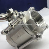 3PC Heavy Type Valve Ball Valve con Locking Hanlde