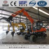 Excavatrice Bd80 de roue de chargeuse de canne à sucre de Shandong
