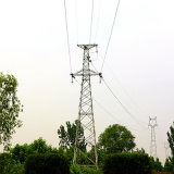 110kv Angle Single Circuit Power Transmision Steel Tower