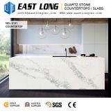Partie supérieure du comptoir artificielles blanches de pierre de quartz de Calacatta pour la décoration à la maison