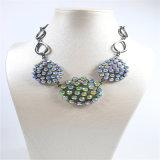 De nieuwe Juwelen van de Manier van de Armband van de Oorring van de Halsband van de Stenen van het Ontwerp Kleurrijke