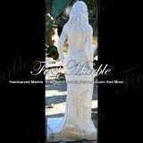 Marmeren Standbeeld Mej.-1001 van Carrara van het Standbeeld van het Graniet van het Standbeeld van de Steen van het Standbeeld Wit