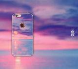La alta calidad crea la caja del teléfono celular para requisitos particulares del paisaje para el iPhone 6 6s para la caja del teléfono de la galaxia S7 TPU de Samsung