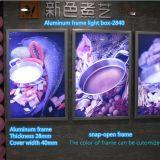 Lichte Vakje van de Affiche van het LEIDENE Menu van het Aluminium het Magnetische