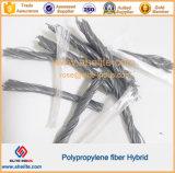 Fibra Twisted di rinforzo concreta di plastica dell'ibrido Bunchy del Torcere-Gruppo del polipropilene dei pp