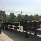 De hete Verkopende Semi Aanhangwagen van de Container van het Bed van de tri-As 40FT Vlakke