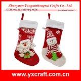 Decoración de Navidad calcetines (ZY15Y156-1-2) Navidad con el regalo de pic