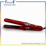 Straightener vermelho do cabelo do LCD do bom calefator do preço MCH