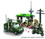 軍285PCSの攻撃シリーズデザイナーブロックハウスの検出はおもちゃを妨げる