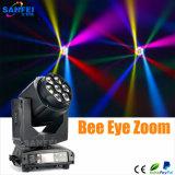 새로운 단계 빛 꿀벌 눈 급상승 7*15W LED 소형 이동하는 헤드