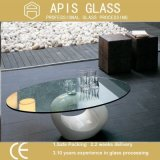 Cercle/glace ordinaire de table taillante ronde de meubles en verre Tempered de bords Polished