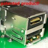 18 connecteur femelle de Pin USB3.0 de double paquet à angle droit