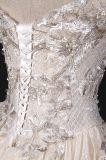 Шампань с платья венчания шарика выпускного вечера вышивки плеча
