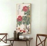 Wand-Kunst-Lotos-Blumen-Kunst-Farbanstrich mit Rahmen für Dekoration