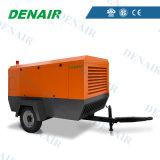 Compresor de aire portable diesel del tornillo con la chorreadora de arena (aire/refrigerados por agua)