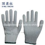 7 gants 350-900g, gant de coton de mesure de travail de sûreté avec le bord