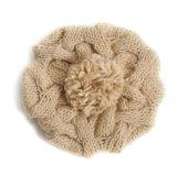 Оптовый цветастый связанный акриловый шлем зимы Beanie