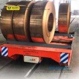 Chariot en acier à bobine dans le transport ferroviaire pour l'objet rond