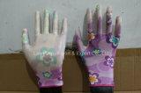 13 Handschoenen van het Werk van de Tuin van de Polyester van de maat de Nylon met Met een laag bedekt Nitril