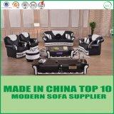 Luxus steuert Möbel-Couch-echtes Chesterfield-ledernes Sofa-Set automatisch an