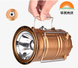 걸기를 위한 소형 폴딩 6 LED 태양 야영 램프 LED 망원경 야영 빛