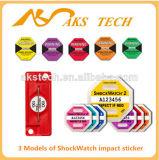 50g escrituras de la etiqueta sensibles del indicador del choque del envío del Shockwatch 1