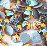 Rhinestone Fix Lastset самый лучший продавая Ss16 Амбер Ab камень 2018 Preciosa экземпляра горячего стеклянный кристаллический (ранг HF-ss16 янтарная ab /5A)