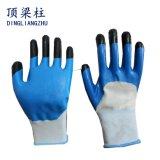 перчатки безопасности полиэфира 13G с усиленными перстом перчатками нитрила