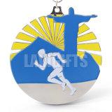 Demi de médaille faite sur commande de médaillon d'or de module de finition de sport de marathon avec des bandes