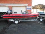 中国Aqualand 19feet 5.8mの堅く膨脹可能なモーターボートの/Fiberglass/Ribの哨戒艇(rib580t)