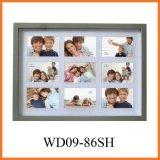 """рамка фотоего коллажа 9-Opening твердая деревянная держит 9 6 фотоих """" X4 """" (WD09-86SH)"""