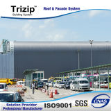 FM genehmigte Trizip 65-400 stehendes Naht-Dach-System