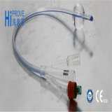3 modo Silicone Coated 100% Latex Foley Catheter con Double Balloon