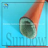 Chemise tressée enduite de silicone en verre de fibre de Firesleeve de température élevée