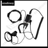 Auricular de microfone de garganta militar para Kenwood Two Way Radio