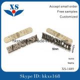 Beutel-Befestigungsteil-kundenspezifischer Metallmarken-Firmenzeichen-Kennsatz
