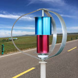 Solar y eólica Sistema híbrido de 200W fuera de la red controlada generador de viento del molino de viento para el hogar