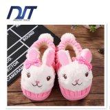 Тапочка хлопка кролика шаржа детей теплая Non-Slip крытая
