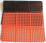 Циновка резины дренажа циновки двери анти- выскальзования прочная резиновый