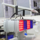 Rote blaue Stroble warnende Verkehrs-Solarlampe