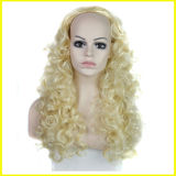 Forma Europa e perucas do Synthetic de Preto Ondulado 3/4 de América da senhora