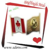 캐나다 깃발 기장 또는 국기 접어젖힌 옷깃 핀