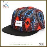 Sombreros y casquillos tejidos tela floral de encargo del panel de la escritura de la etiqueta 5