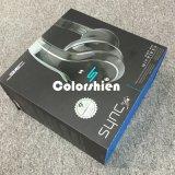 Rectángulo de regalo negro de la visualización del embalaje del papel del auricular de la alta calidad